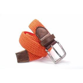 Cinturón Hombre Trenzado Naranja Magnus Mmxv Elástico