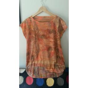 Blusa Camiseta Feminina Laranja
