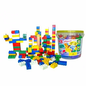 Balde De Blocos De Montar Com 156 Peças Brinquedo Educativo