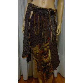 Pollera Crochet Y Dos Agujas Tejido Artesanal T U