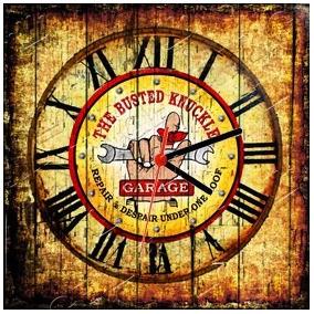 d6d75cef18c Relógio Vintage King Mdf 27x27 Garage Cloqbc.0163 · R  29 98