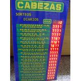 Cartel 17 Cabezas Del Dia - Quiniela Electronico -emporio