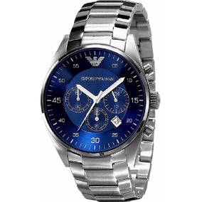 Relógio Masculino Emporio Armani Ar5860 Prata/azul Completo