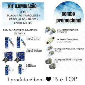 Kit Lâmpadas De Leds + Lampadas Super Brancas Gol G4