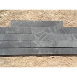 Piedra Ardosia Pizarra Negra 5 X 40 Cm Piso Y Pared Revestim