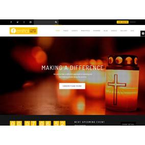dcb0c1e2da Template Site Wordpress Para Igrejas  Rei Dos Templates