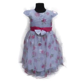 Vestido de fiesta nena rosa