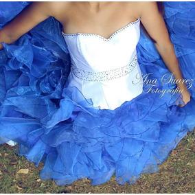 Vestido De 15 Color Azul Francia Urgente!!!!!!