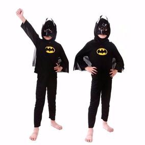 Roupa Fantasia Batman Infantil, Super Herói Com Máscara
