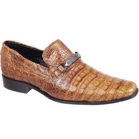 Sapato Social Couro Jacare Cobra - Sapatos Masculinos no Mercado ... 0239cca26f