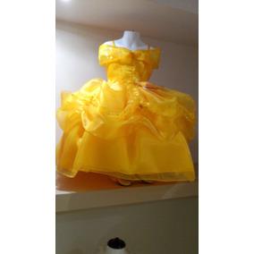 Vestido Princesa Bella Y La Bestia Tela De Lujo Envio Grati