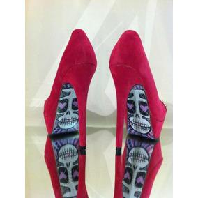 Zapatos Importados Con Tachas Y Calavera Pintada Skull