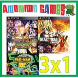 Naruto Shippuden + Xenoverse + Pac Man Playstation 3