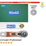 Base De Corte 90x60 +régua 60x15 + Cortador Patchwork,scrap