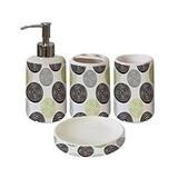 Set De Baño 4 Piezas Cerámica Diseño Espirales Oferta! 29188c8985b6
