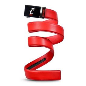 Cinturon Piel Caballero L 36-38 Rojo