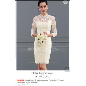 Vestido de novia civil beige