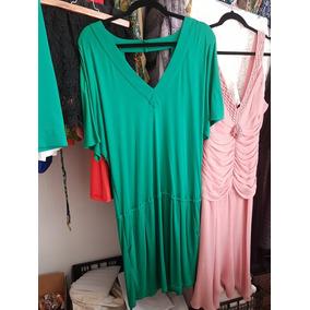 Bcbg Vestido Talla 6 Verde Algodón