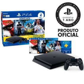 Playstation 4 Slim 500gb Hits 2 Com 4 Jogos+ps Plus Cuh-2114