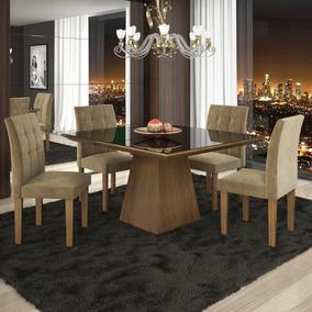 Sala Jantar 4 Cadeiras Pietra Stilo Siena Móveis Ji