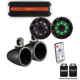 Jl Audio Hx280/4 Powersports Amp With Kicker Kmtes Speaker E