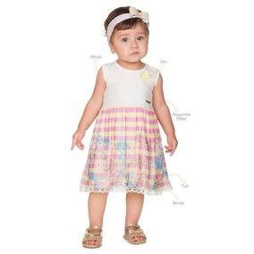 Vestido Infantil Bebê Saia Tule Roupa De Menina Alekids