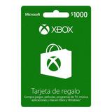 Xbox 1000$ Tarjeta De Regalo