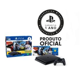 Console Playstation 4 Ps4 Slim 500gb Hits Bundle + 4 Jogos