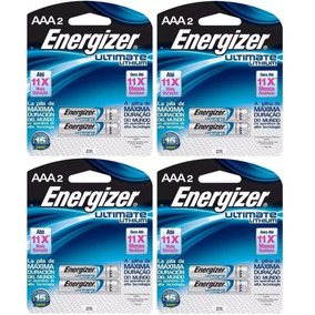 8 Pilha Aaa 1.5 Lithium Litio Ultimate Palito Energizer