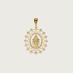 Pingente Nossa Senhora Das Graças Vazado Em Ouro 18k (750). por Lulean Joias 67485b5429
