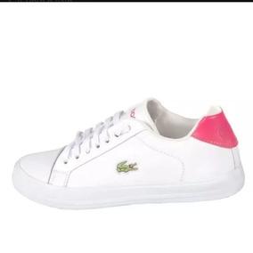 Sapatenis Feminino Adidas Branco - Tênis Lacoste no Mercado Livre Brasil 54fff7fed7