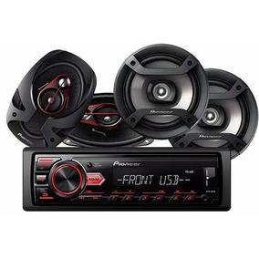 Combo Pioneer Radio 85ub +2 Parlantes Ts-f1634r + Ts-r-6951
