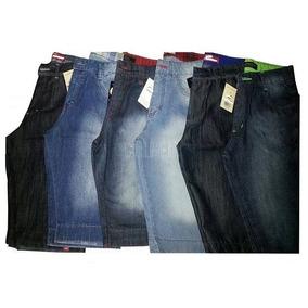 Kit Atacado/revenda 05 Bermuda Jeans Masculina Slim Sortidas