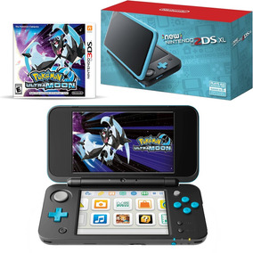 New Nintendo 2ds Xl Black + Pokemon Ultra Moon, Macrotec