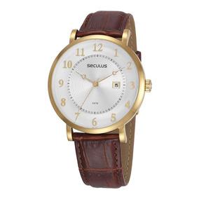 b36afb0beeb Relogio Classico Visor De Zafira Masculino Seculus - Relógios De ...