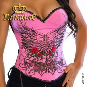 Corset Tattoo Roses Wings Importado Art 2022