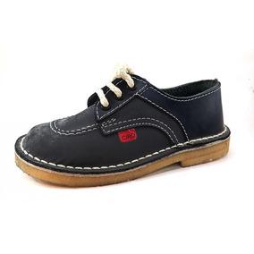 Zapatos T/ Kickers Colegial Cuero Cordon 21-33 Children