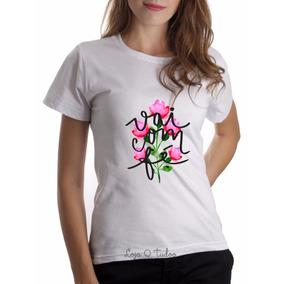 Camiseta Baby Look Blusas Feminina Gospel Jesus Fé Deus Amor