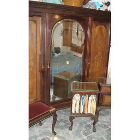 Ropero Antiguo Madera Con Espejo