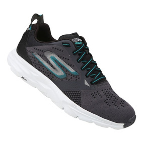 Tênis Skechers Go Run Ride 6 54117-cctl - Grafite E Branco 4d8d865228b49