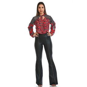Bata Acostamento Feminino Fashion Paisley Mini Vermelho