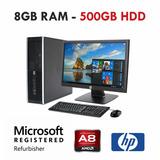 Computadora Amd A8-5500b 3.2ghz 500gb-8gb Lcd 22 Wifi
