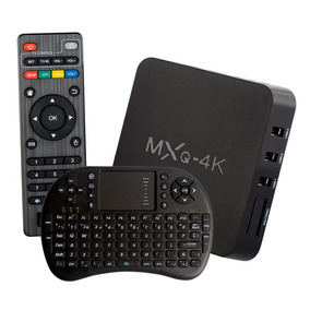 Smart Tv Box 4k Ultra Hd Android + Teclado Inalámbrico Loi