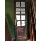 Puerta Madera De Cedro Con Vidrios Espejados - Vintage