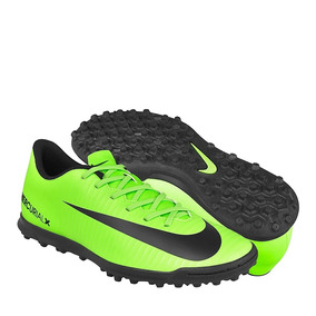 Tenis De Futbol Nike Para Hombre Simipiel Verde Negro 831971