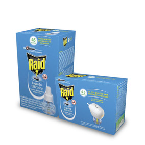 Combo Raid Aparato + Repuesto Liquido Eléct Anti Mosquitos