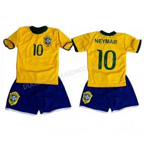 Conjunto Infantil Brasil Seleção Neymar Pronta Entrega