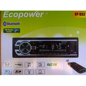 Stereo Ecopower Ep-652 - Bluetooth - Usb - Sd - Radio Fm