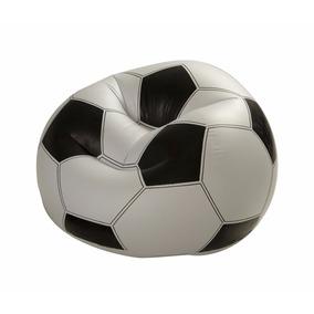 Sillón Puff Inflable De Pelota De Fútbol Intex 68557
