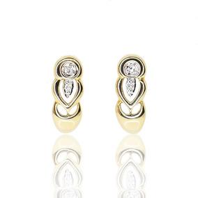 8085a0e1319c Aretes Oro Amarillo Diamantes Rusos Semi Largos Envio Gratis - Joyas ...